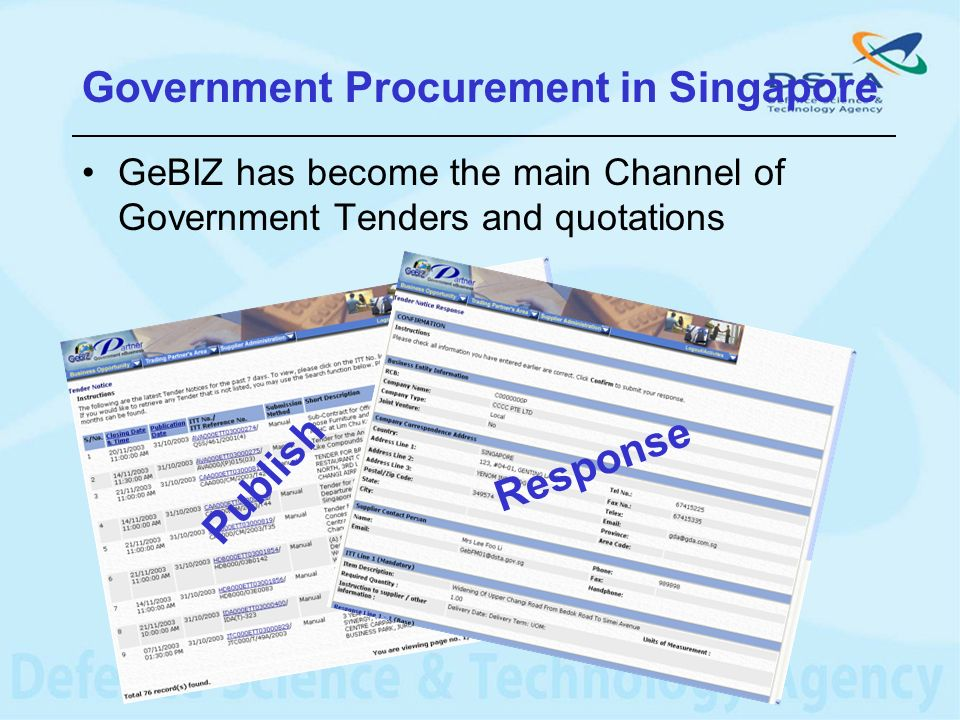 GeBIZ has become the main Channel of Government Tenders and quotations Publish Response Government Procurement in Singapore