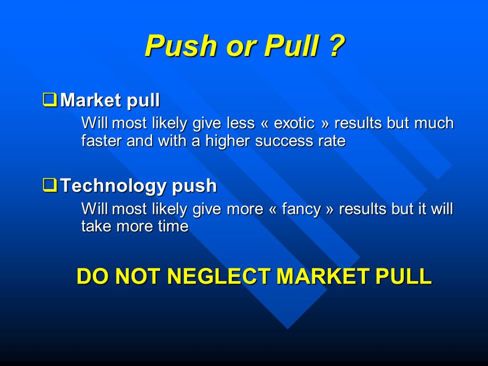 Push or Pull .