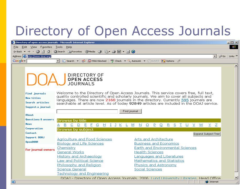 Directory of Open Access Journals