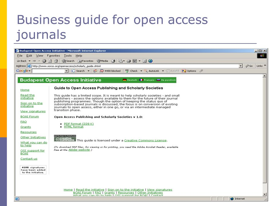 Business guide for open access journals
