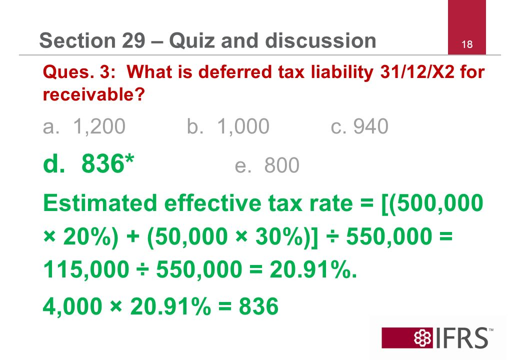 18 Section 29 – Quiz and discussion Ques.