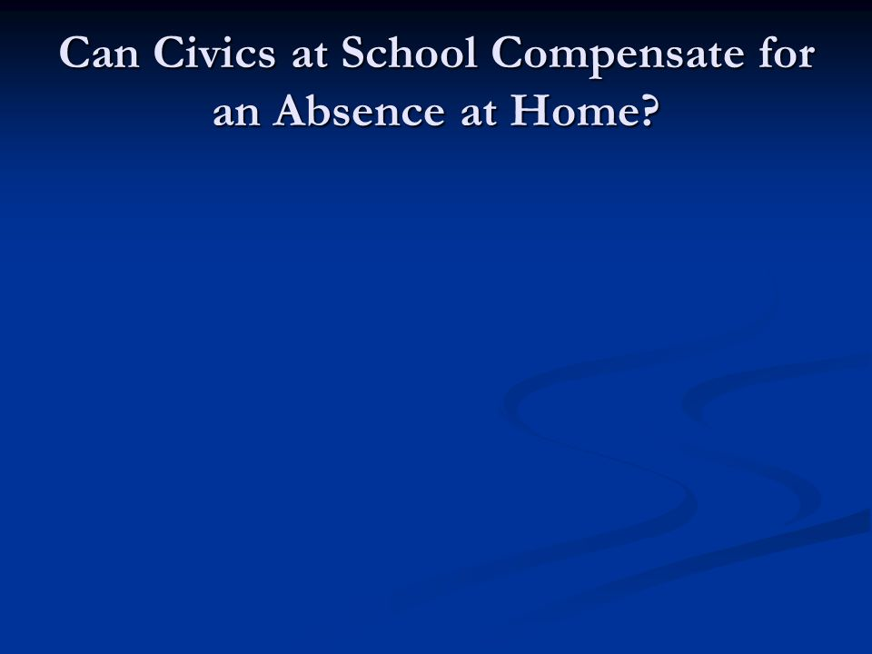Can Civics at School Compensate for an Absence at Home?