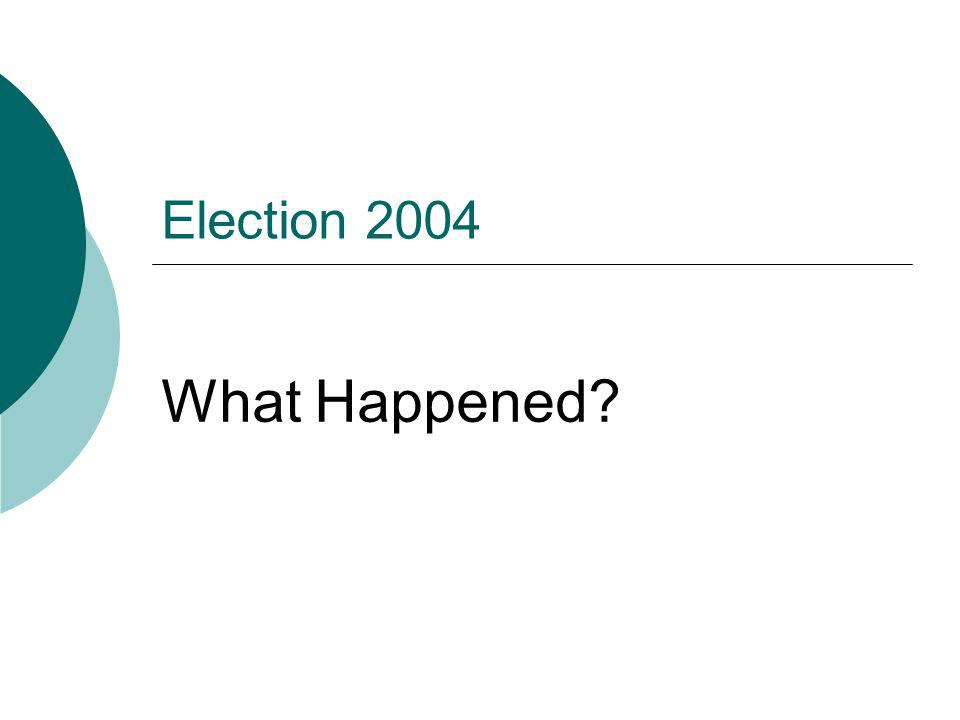 Election 2004 What Happened