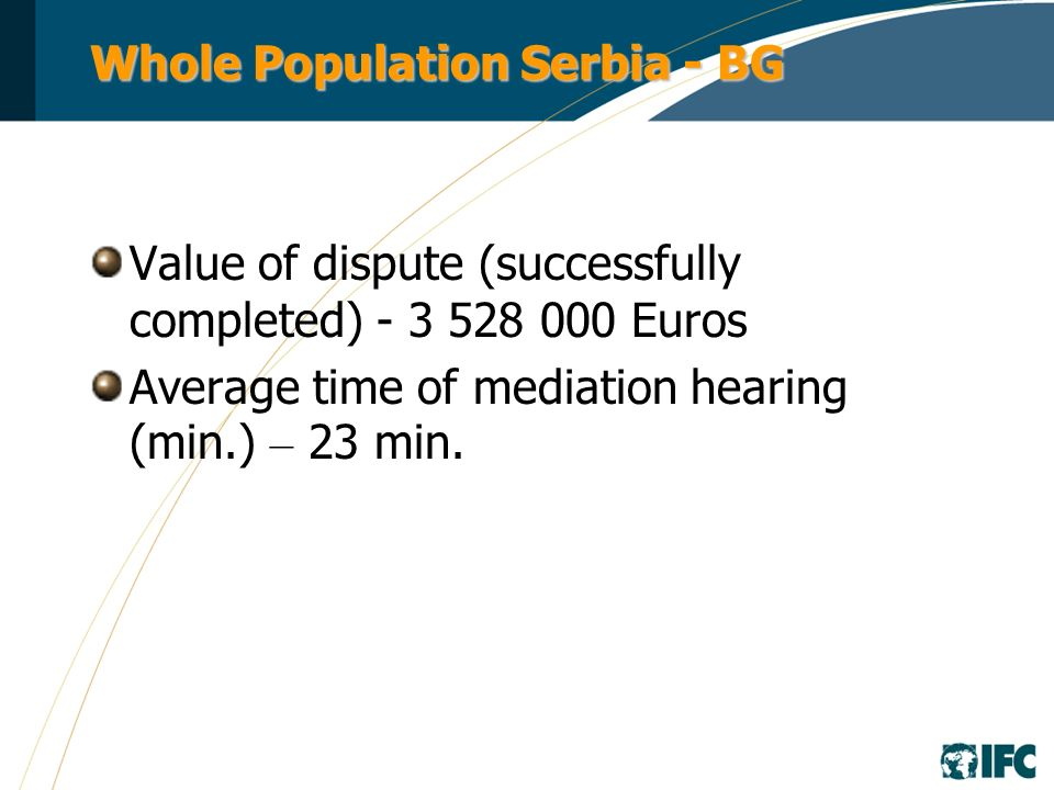 Whole Population Bosnia and Herzegovina Banja Luka Mediation Center