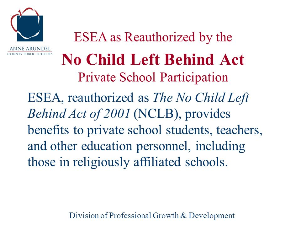 Division of Professional Growth & Development Promoting Informed Parental Choice and Innovative Programs Title V, Part A–Innovative Programs Title V
