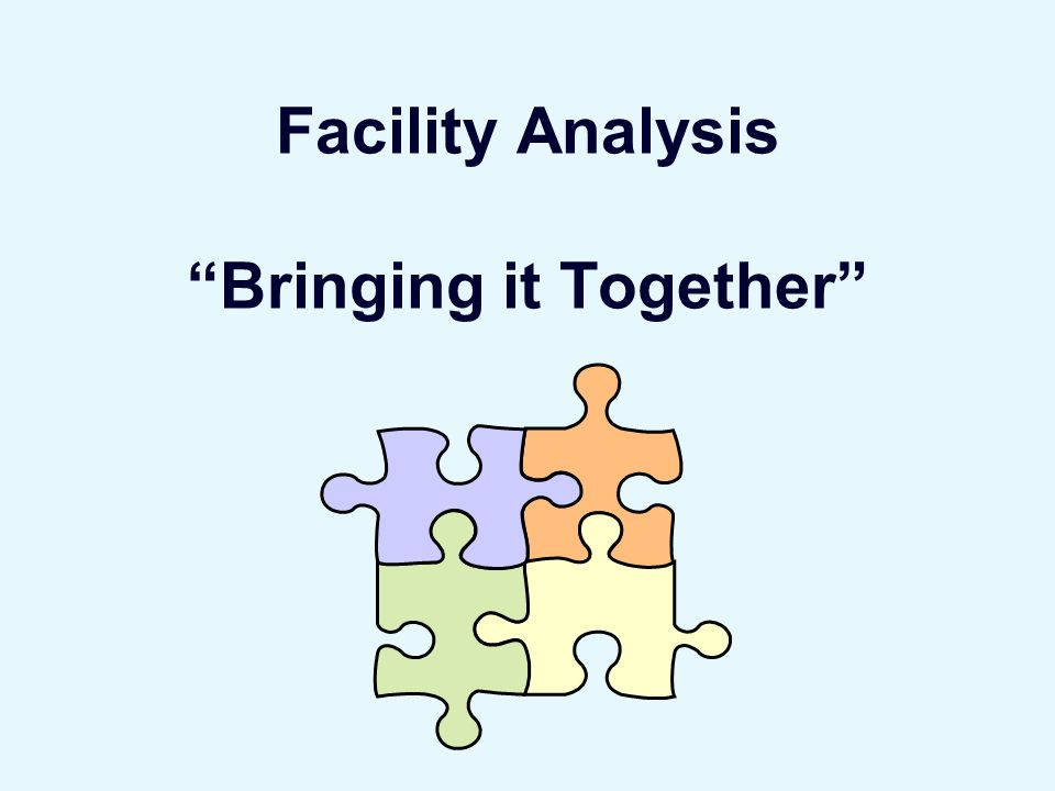 Facility Analysis Bringing it Together