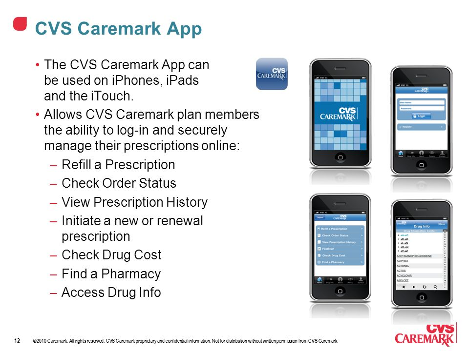 ©2010 Caremark. All rights reserved. CVS Caremark proprietary and confidential information.