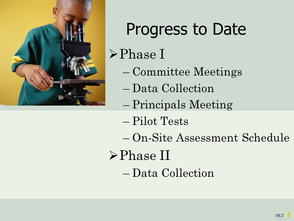Progress to Date Phase III –Interviews/Data Gathering –Public Meeting Process –Issues Identification