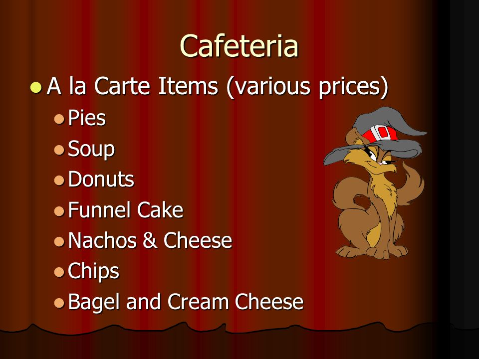 Cafeteria (cont.) Lunch Lunch $2.75 Regular; $0.40 Reduced $2.75 Regular; $0.40 Reduced Hot Steak Sub Hot Steak Sub Chicken Nuggets Chicken Nuggets Co