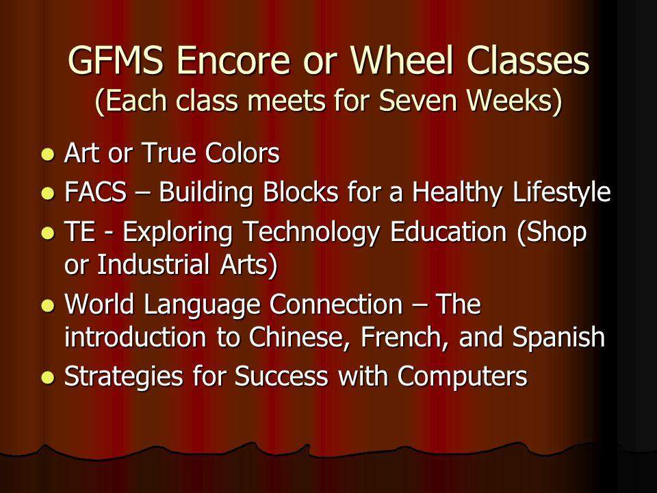 George Fox Middle School Academic or Core Classes English/Language Arts – reading, writing, vocabulary development, grammar and usage. English/Languag