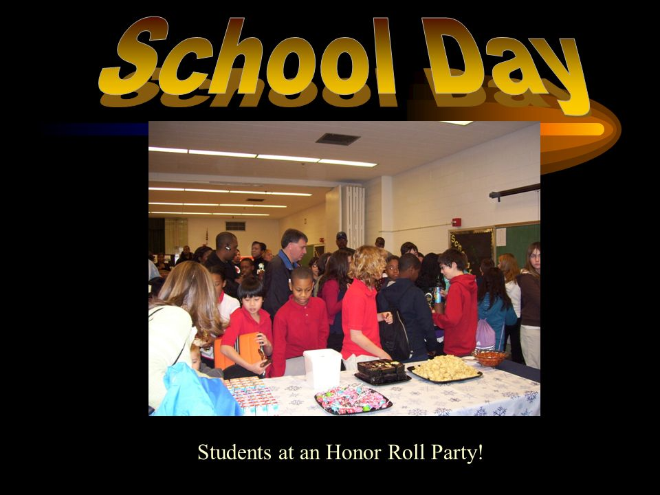 Students at an Honor Roll Party!