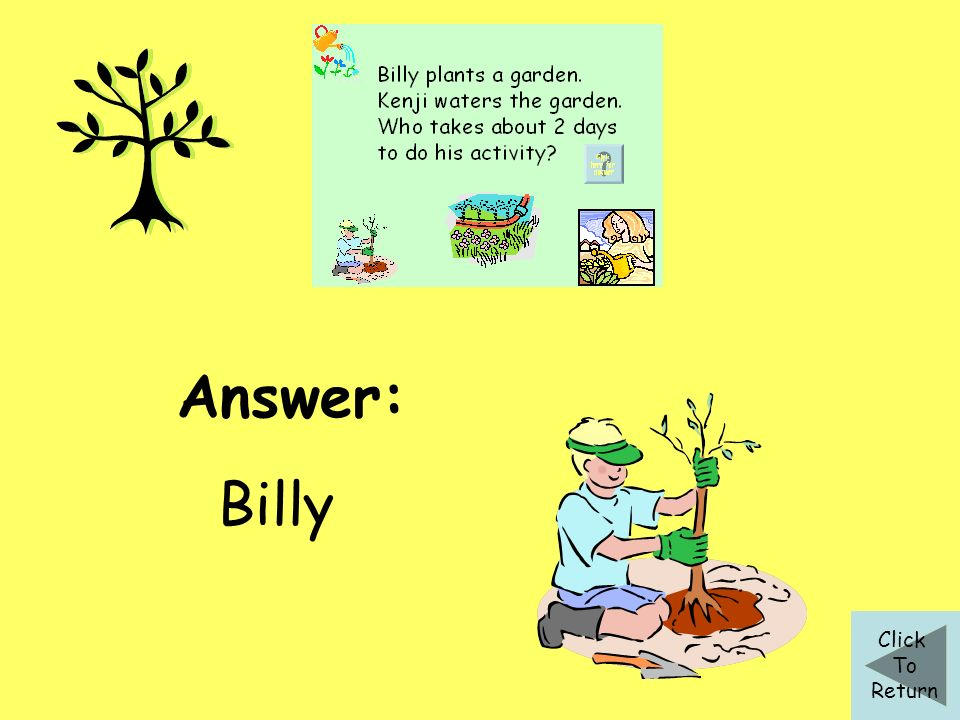 Answer: Billy Click To Return