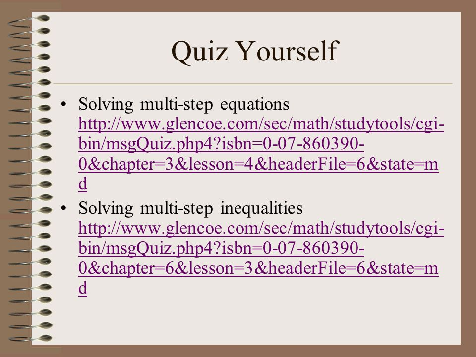 Try some of your own… Were going to go to this website http://matti.usu.edu/nl vm/nav/frames_asid_ 324_g_3_t_2.html op en=instructions and balance equations.