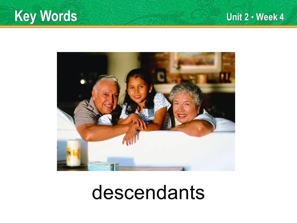 Unit 2 Week 4 descendants Key Words
