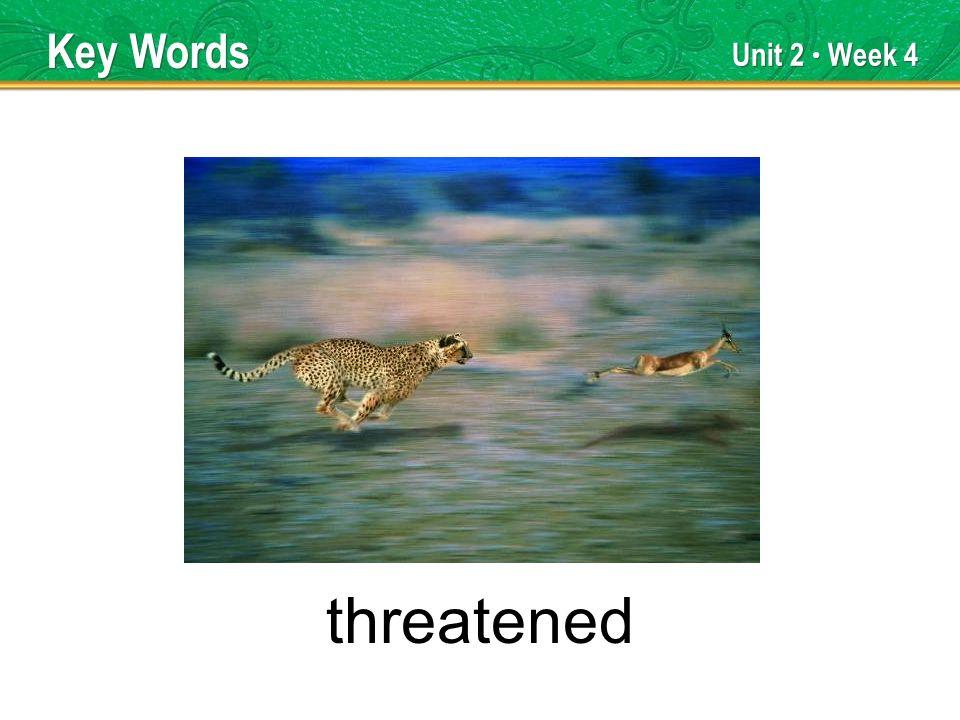 Unit 2 Week 4 threatened Key Words