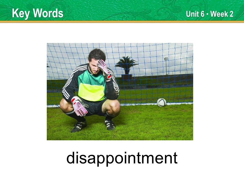 Unit 6 Week 2 disappointment Key Words