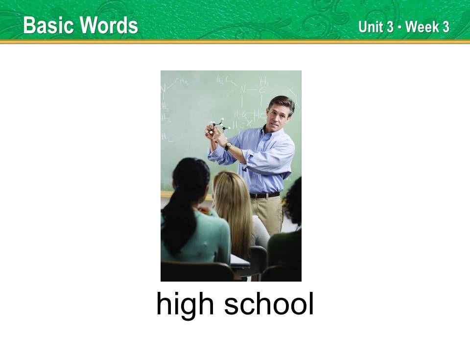 Unit 3 Week 3 high school Basic Words