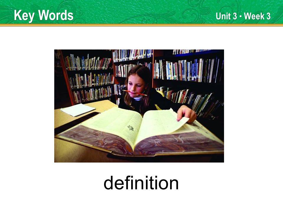 Unit 3 Week 3 definition Key Words