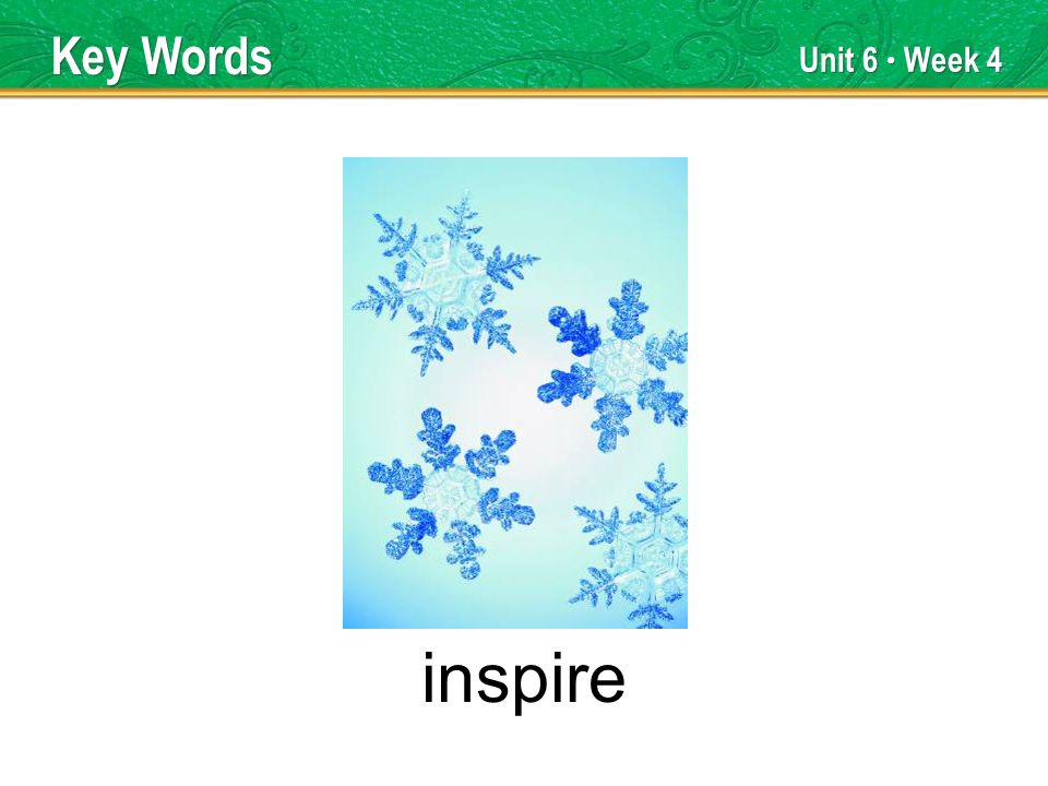 Unit 6 Week 4 inspire Key Words
