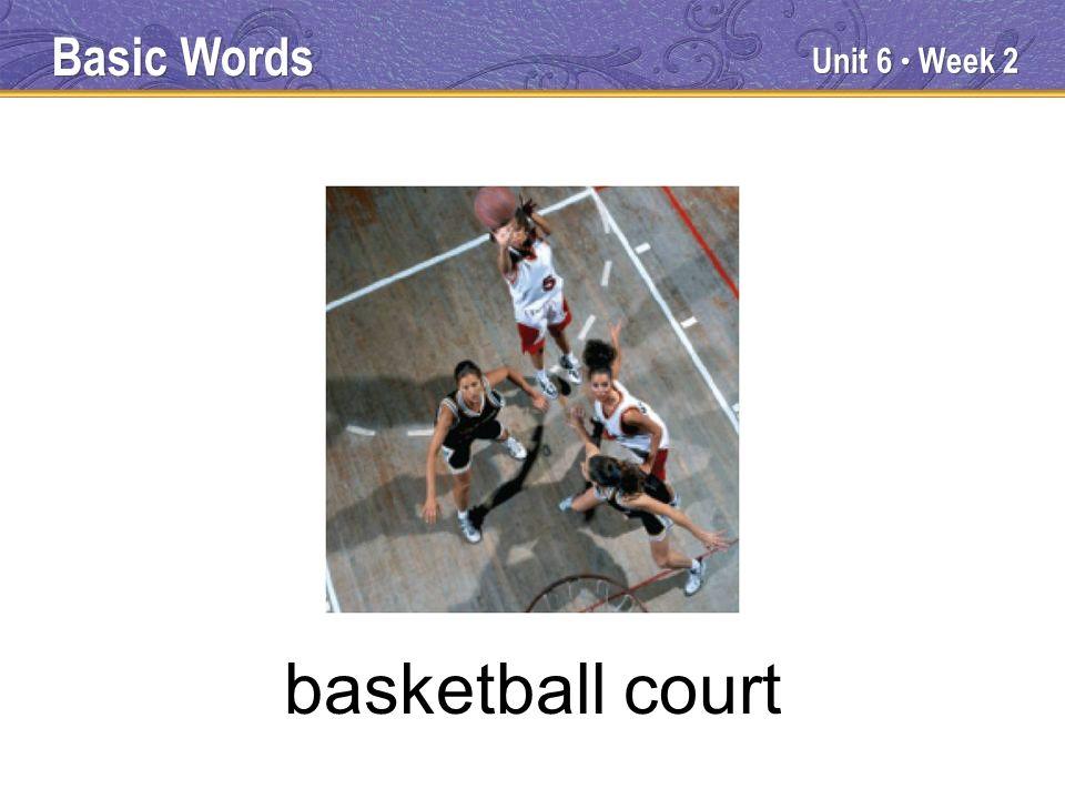 Unit 6 Week 2 basketball court Basic Words
