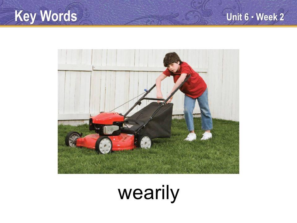 Unit 6 Week 2 wearily Key Words