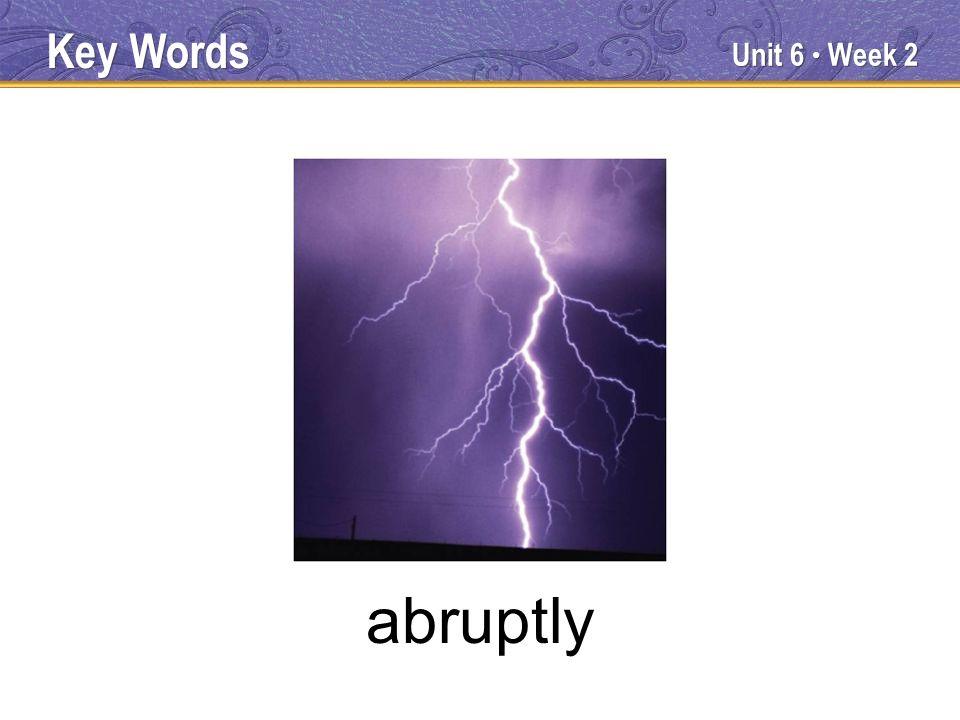 Unit 6 Week 2 abruptly Key Words