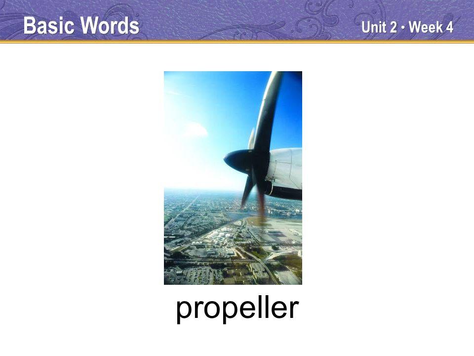 Unit 2 Week 4 propeller Basic Words