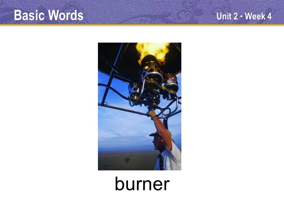 Unit 2 Week 4 burner Basic Words