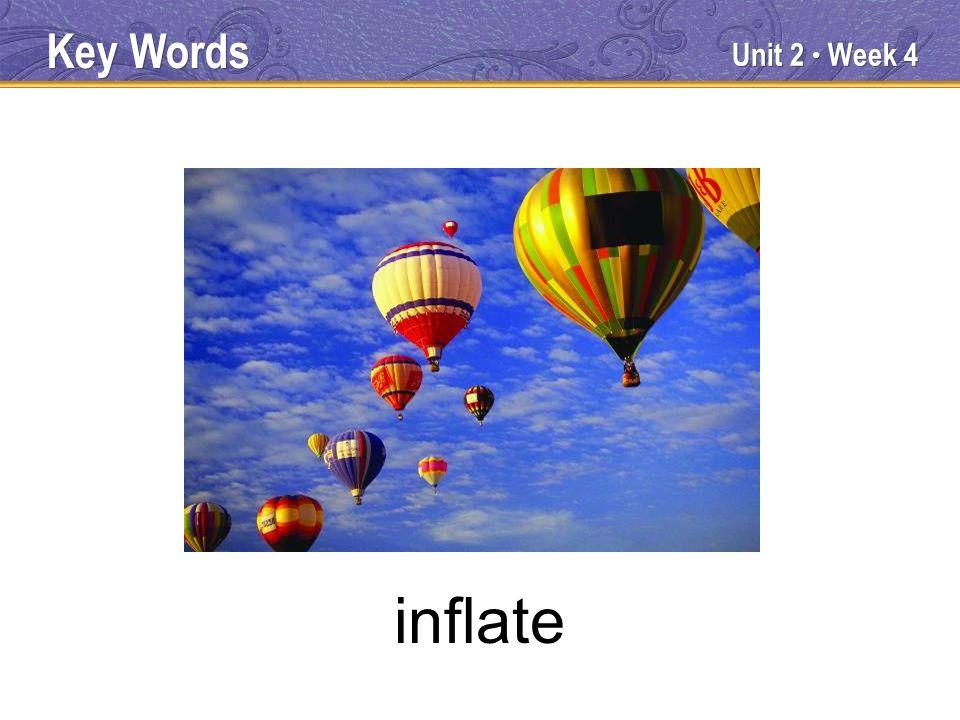 Unit 2 Week 4 inflate Key Words