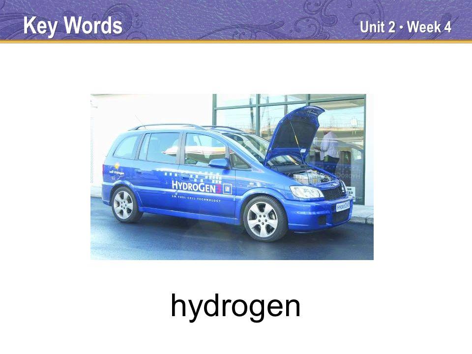 Unit 2 Week 4 hydrogen Key Words