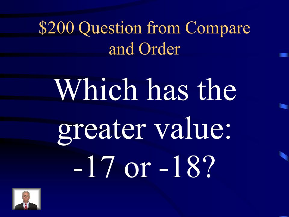 $100 Answer from Compare & Order 1/2