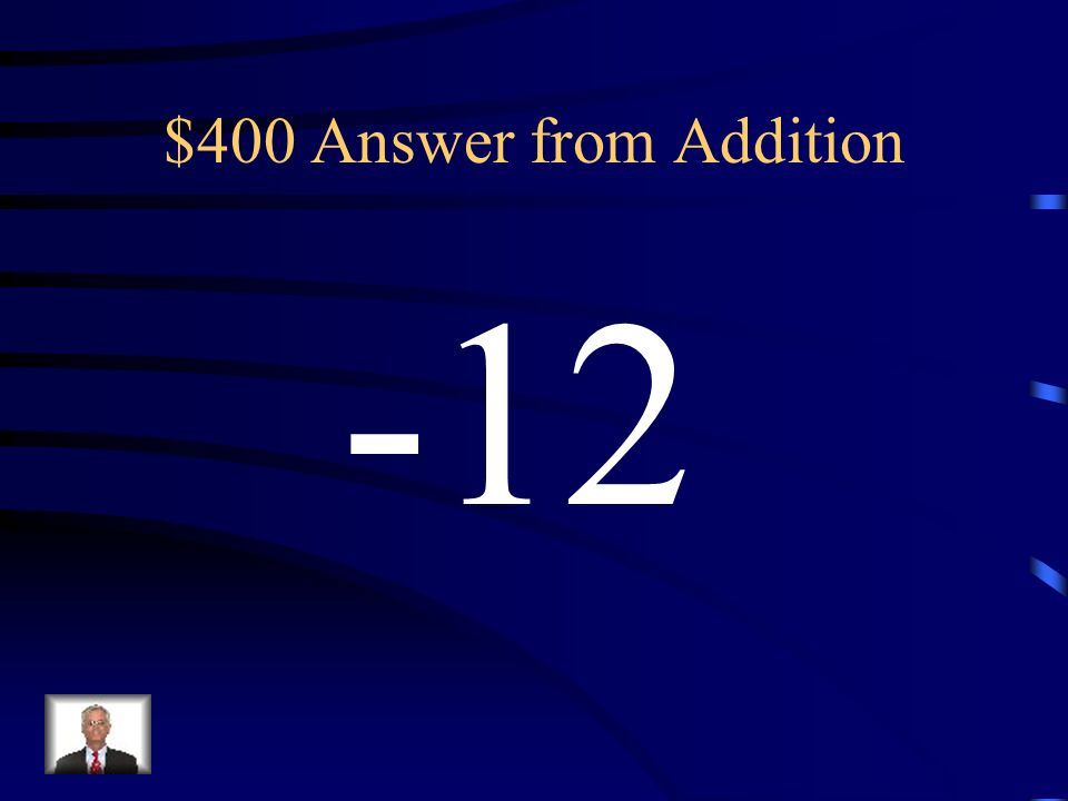 $400 Question from Addition a = -28 b = 16 Evaluate a + b