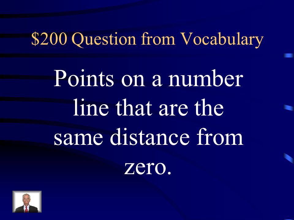 $100 Answer from Vocabulary Integers