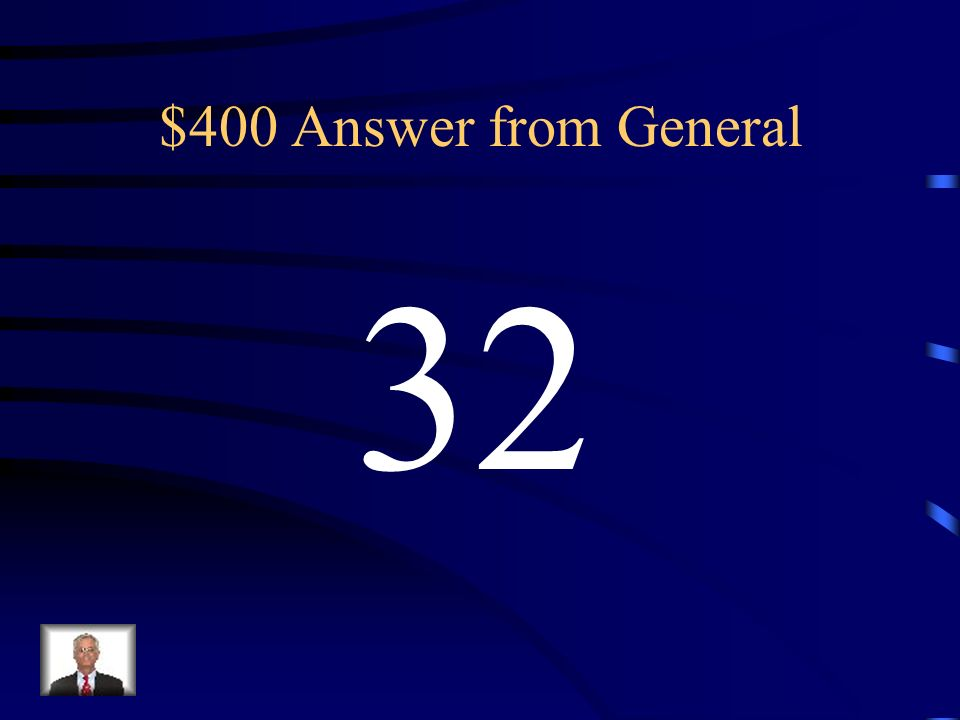 $400 Question from General What is the absolute value of 32?