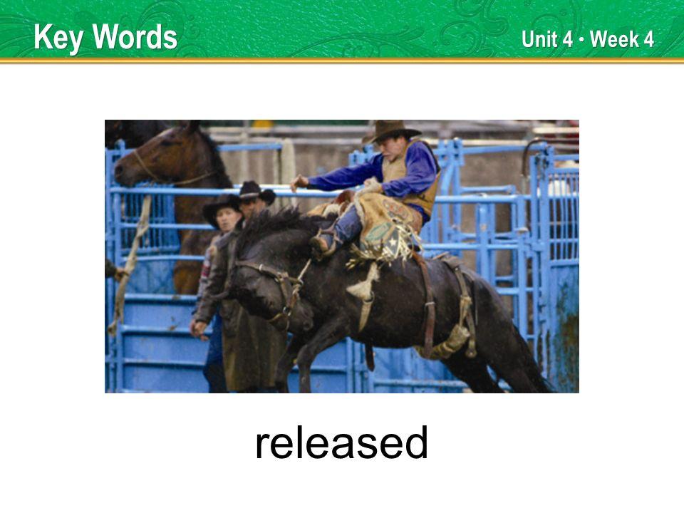 Unit 4 Week 4 released Key Words