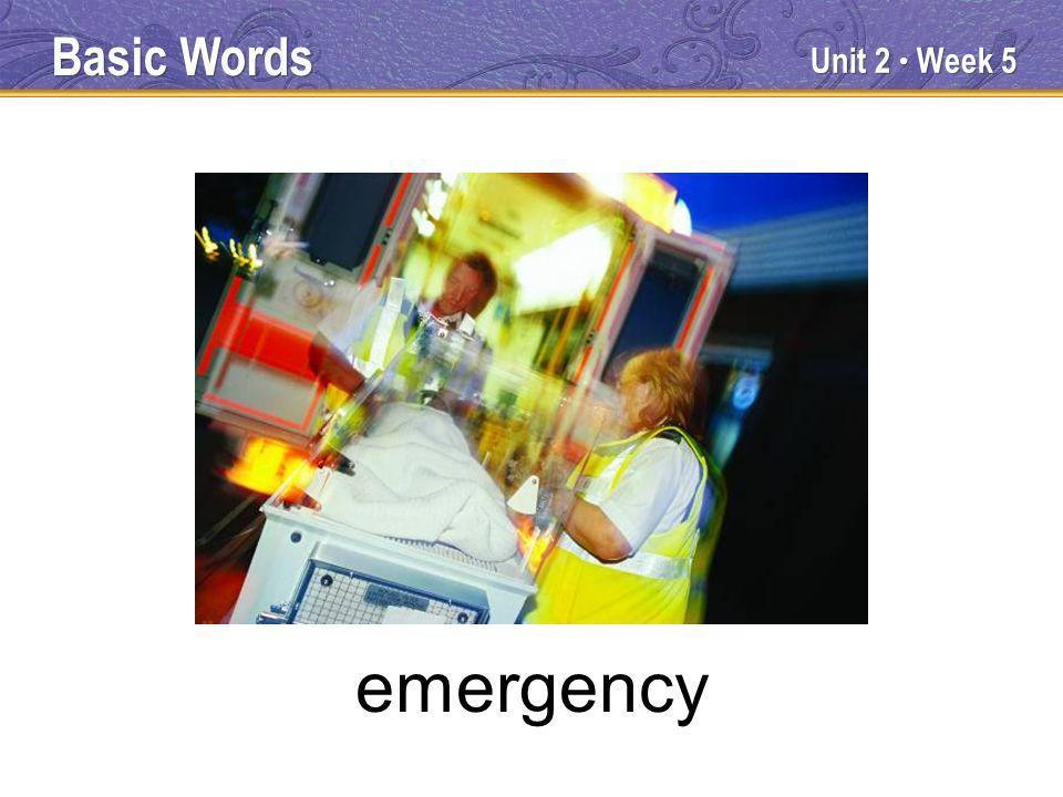 Unit 2 Week 5 emergency Basic Words