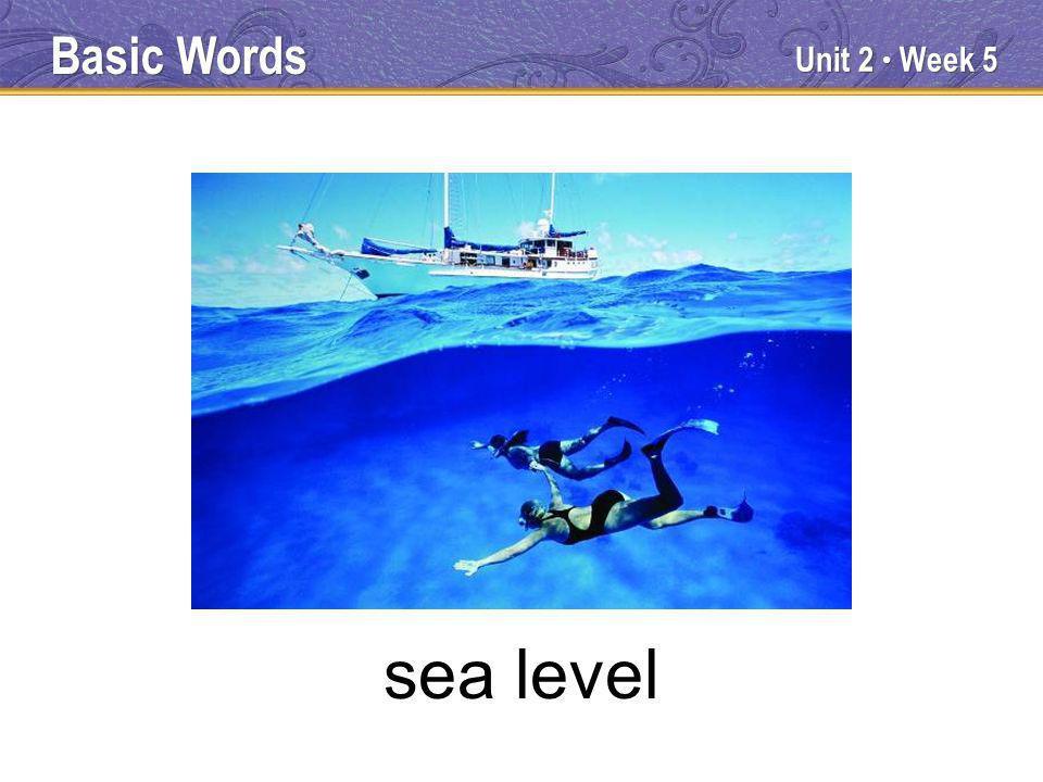 Unit 2 Week 5 sea level Basic Words