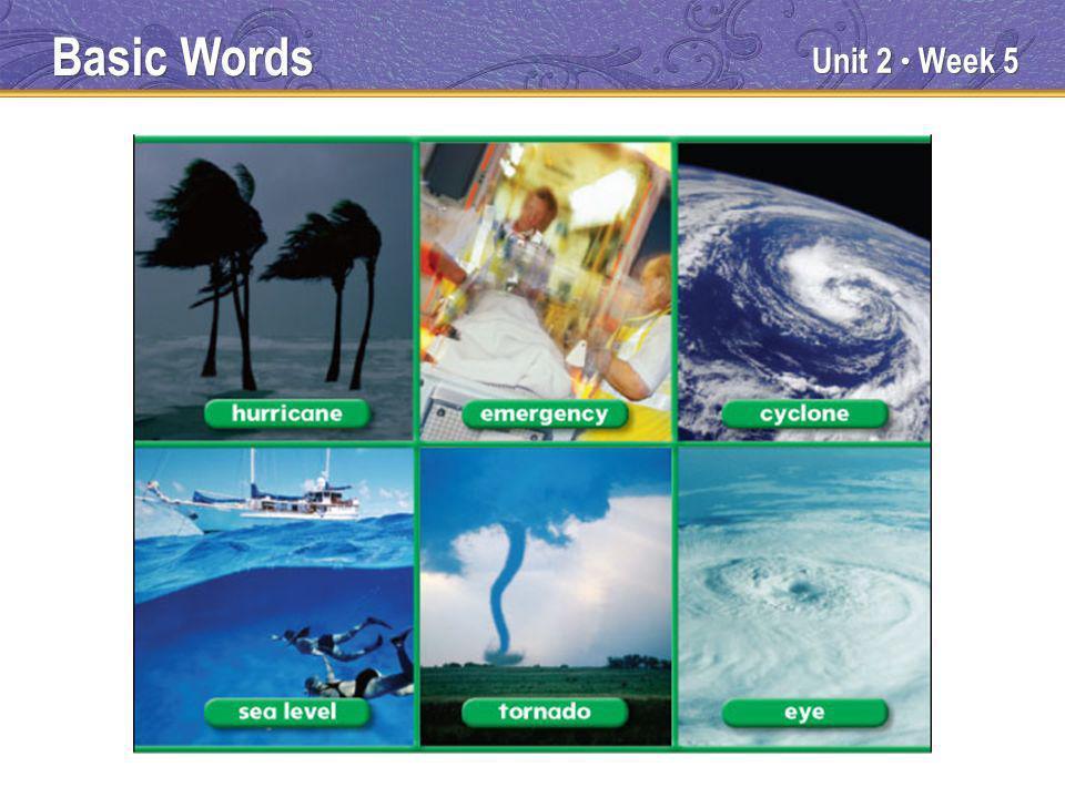 Unit 2 Week 5 Basic Words