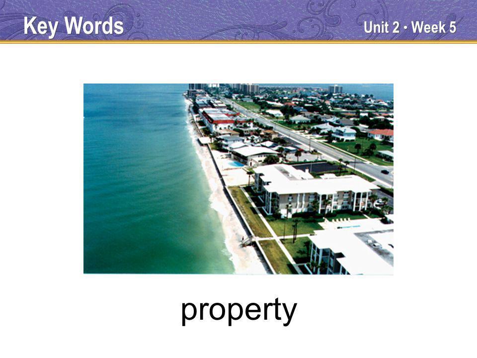 Unit 2 Week 5 property Key Words
