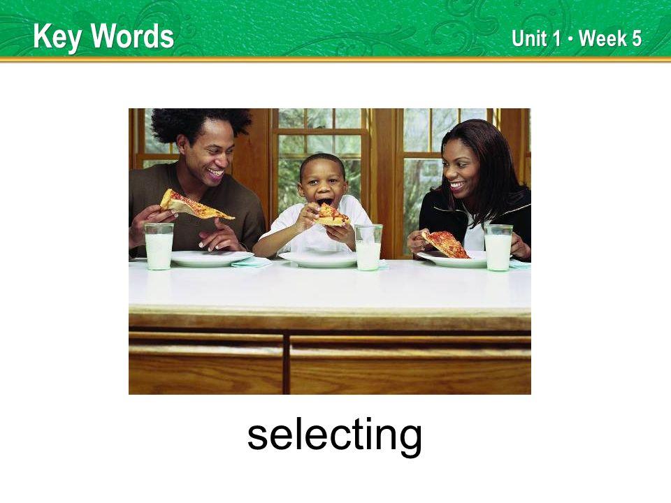 Unit 1 Week 5 selecting Key Words