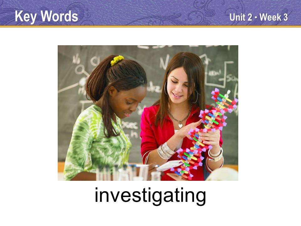 Unit 2 Week 3 investigating Key Words