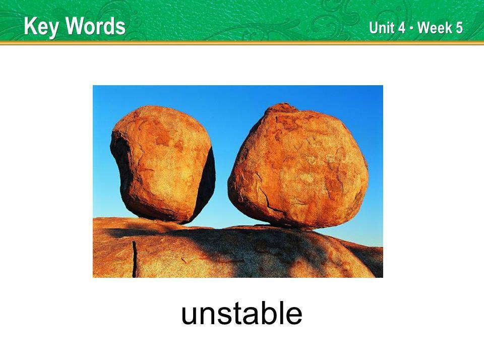 Unit 4 Week 5 applauded Key Words