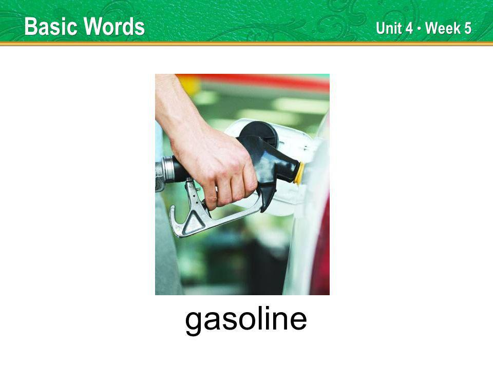 Unit 4 Week 5 gasoline Basic Words