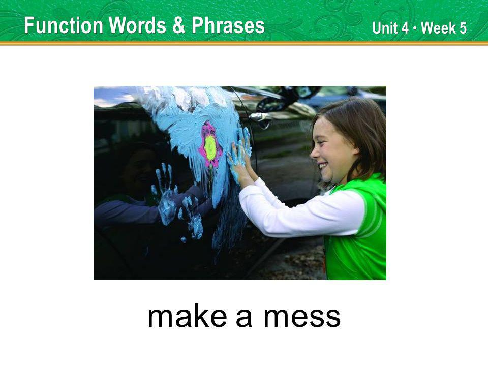 Unit 4 Week 5 went on Function Words & Phrases
