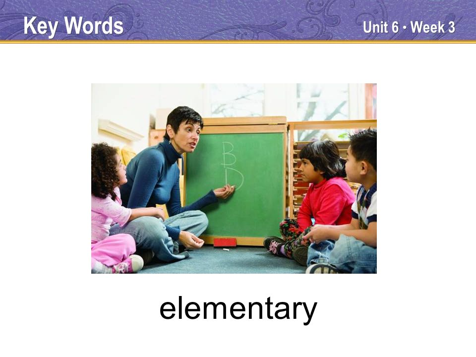 Unit 6 Week 3 elementary Key Words