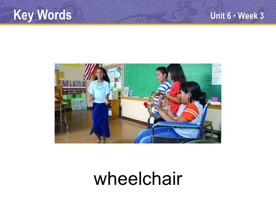 Unit 6 Week 3 wheelchair Key Words