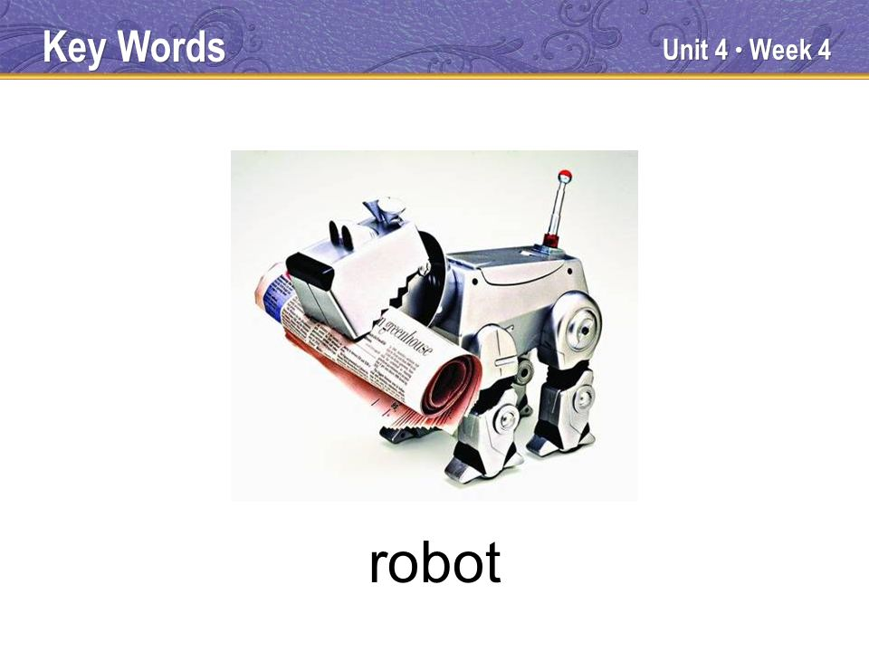 Unit 4 Week 4 robot Key Words