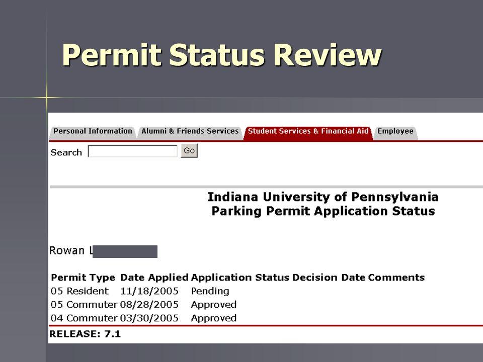 Permit Status Review
