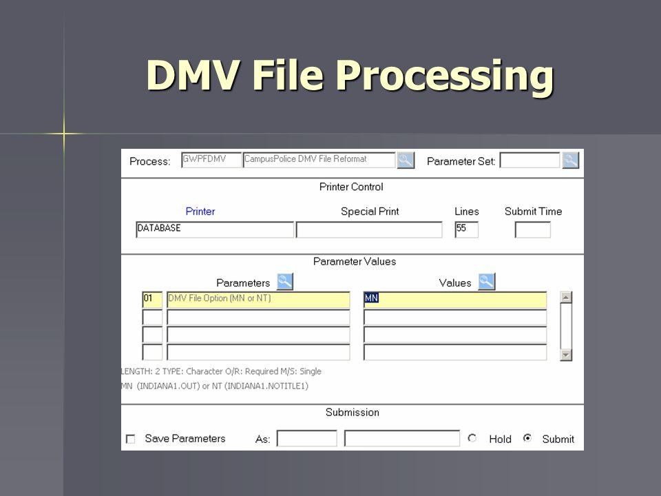 DMV File Processing