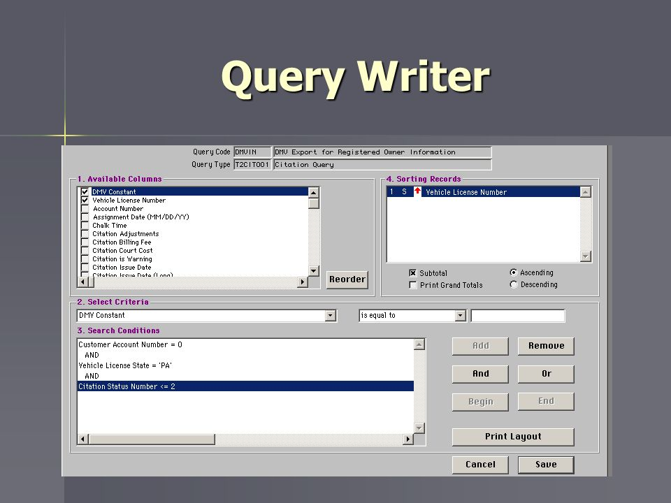 Query Writer